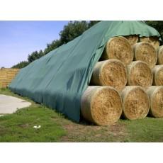 Plachta 9,8 m x 12,5 m na zakrytí sena a trávy NTG 140 z netkaná textilie
